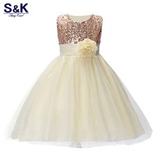 XQ-154 2017 Hot Summer Flower Girls Dress For Wedding And Party Infant Princess Girl Dresses Toddler Costume Baby Kids Clothes