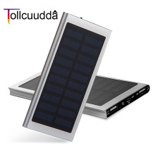 Tollcuudda Solar Power Bank 10000mAh External Battery Ultra-Thin Portable Charger Powerbank Solar Charger For Xiaomi Iphone 6 s