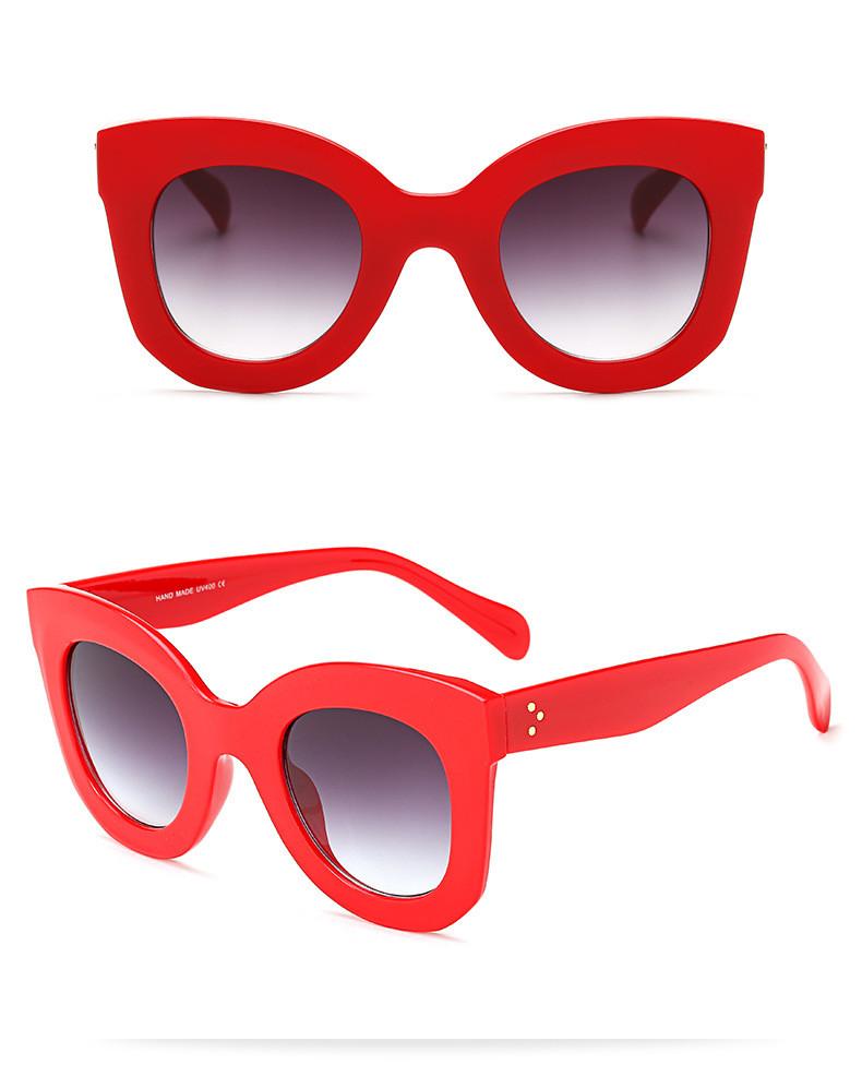 Luxury Cat Eye Sunglasses Women Brand Designer Retro Vintage Sun Glasses Women Female Ladies Sunglass Mirror Lunettes de soleil (15)