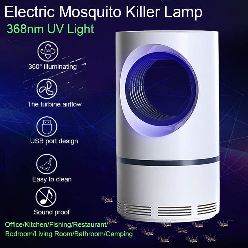 360° LED light Electric Insect Killer Mosquito Fly Bug Zapper Catcher Trap Lamp