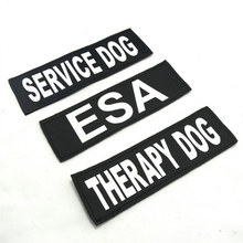 2pcs Service Dog Vest Dog Harness Label Self-Sticker Removable Pet Logo Therapy Dog DO NOT PET Dog Cat ID Tags Sticker(China)