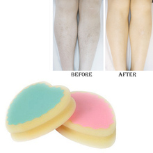 Magic Painless Hair Removal Depilation Sponge Pad save way to remove hair leg arm hair remover effective   A2