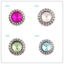 10pcs/lot Partnerbeads DIY OEM 12mm snaps button with zinc alloy bottom for snaps bracelets fit ginger snaps jewelry KS6043-S