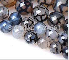 diy    Black and white dragon  beads wholesale crystal beads 6mm60pcs DIY set lapis lazuli  beads round