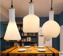 Magic Bottle Nordic Modern Pendant Light with Glass Lampshade for Dinning Room Restaurant Hanging Lamp Lamparas Pendente De Teto