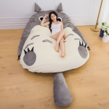 Manufacturer Large Size Anime Cartoon Totoro Bed Design Soft Mattress Kid Giant Big Gift Cushion Lazy Sofa Mat Tatami Plush Toys