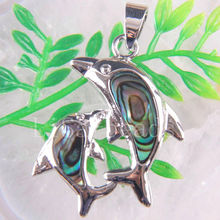 Free Shipping New without tags Fashion Jewelry Dolphins Natural New Zealand Abalone Shell Pendant 1Pcs RK1123