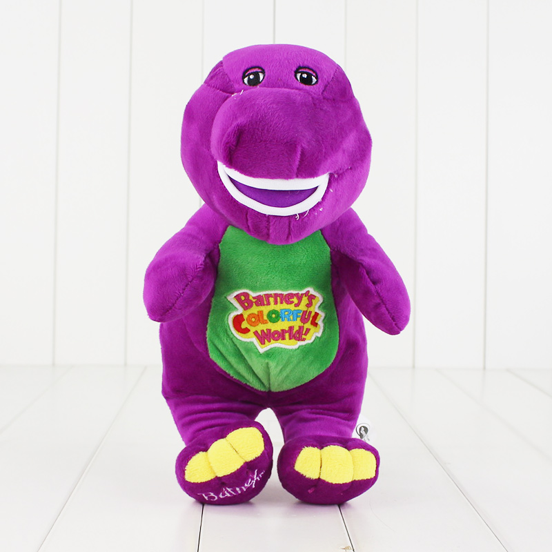 28cm Hot Sale Singing Friends Dinosaur Barney Sing I LOVE YOU Song Plush Doll Toy Christmas Gift For Children(China)