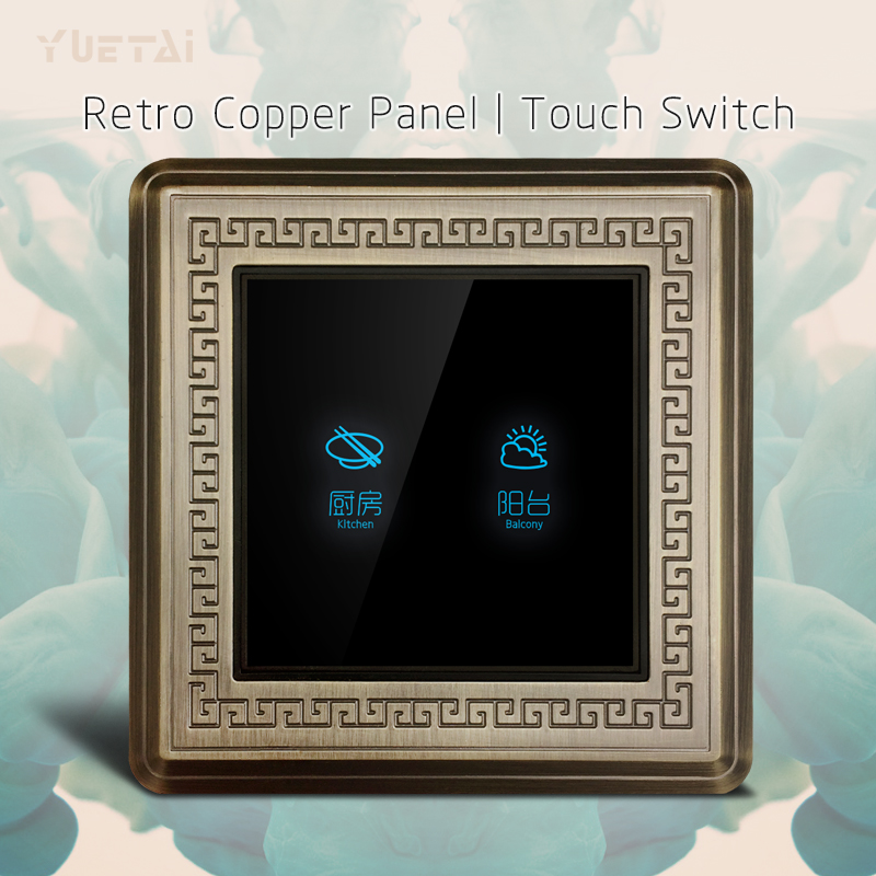 retro copper 86 type black smart wall switch<br>