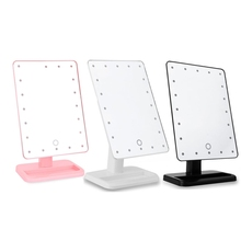 20 Lighted Led Makeup Mirror Touch Screen Luminous 180 Rotating Adjustable Vanity Table Lamp Make Up Mirrors With Light Portable(China)