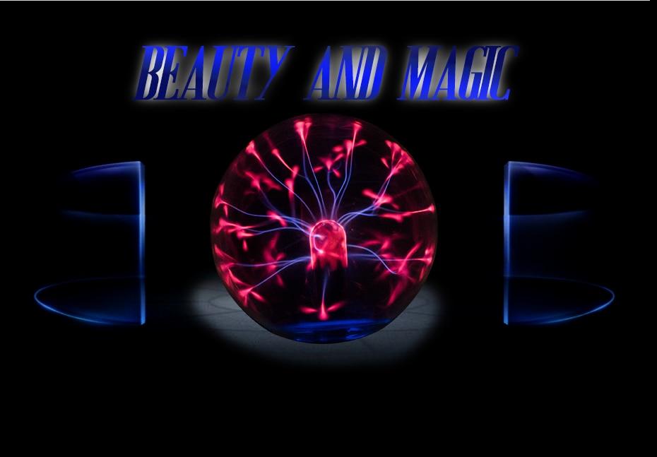 CNSUNNYLIGHT Car Music Sound Control LED USB Plasma Ball Electrostatic Lamp Decoration Atmosphere DJ Lights Party Magic Lighting (5)