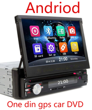 "7"" Touch Screen 1 Din Car DVD Player andriod GPS Navigation in Dash Car Radio PC Stereo Head Unit Free Map"