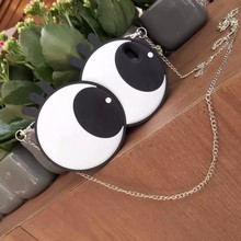 New Cute Girlish 3D Big Eyes Cell Phone Cases For Apple iPhone 6 6s 6plus 6splus Women Mobile Case Cover With Chain
