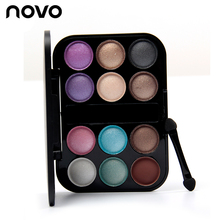 New Professional 12 Color Nude Eyeshadow Palette Makeup Naked Smoky Shimmer Eye Shadow Palette Set Pigment Eyeshadow With Brush