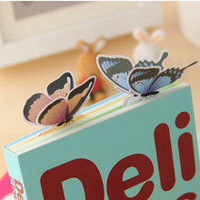 5pcs/lot 3D Butterfly Bookmark Style Teacher's Gift Book Marker Stationery Gift Realistic Domestic Collection Write Bookmark(China)