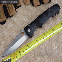 MARS MADAM Free shipping Hardness 58HRC Black Pocket Knife Tactical Folding Knife Survival Knife Micarta EDC Tools
