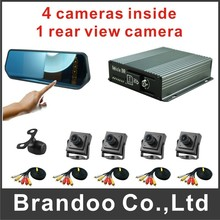 Car rear driving camera and monitor kit, auto recording, used for private car and truck