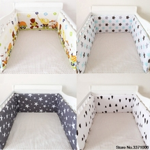 Buy New Cotton Baby Bumper 100% Cotton Shell Gray Star Newborn Crib Bumper Padded Breathable Fill Comfortable Baby Bedding 1PC for $23.21 in AliExpress store