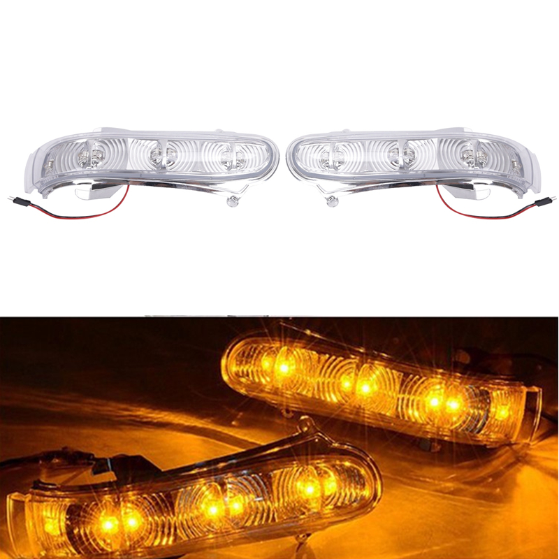 Car LED Side Mirror Lamp Turn Signal Lights For Mercedes Benz W220 S500 S430 S320 W215 CL600 CL500 CL55 S55 AMG 1999-2003 #9379<br>