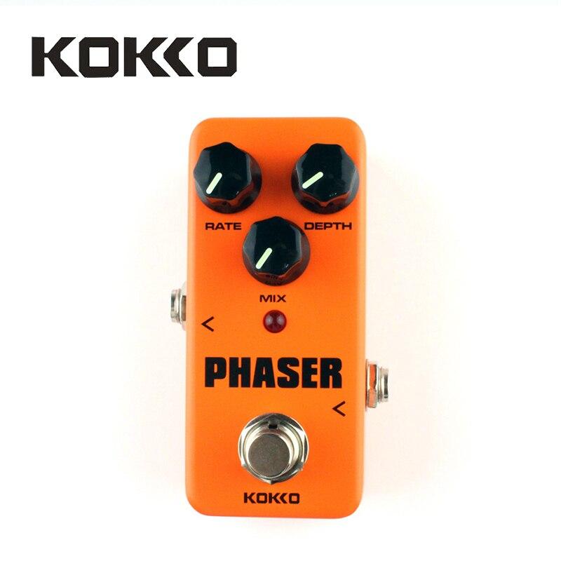 KOKKO FPH2 Vintage Phaser Guitar Effect Pedal with True Bypass, Orange<br>