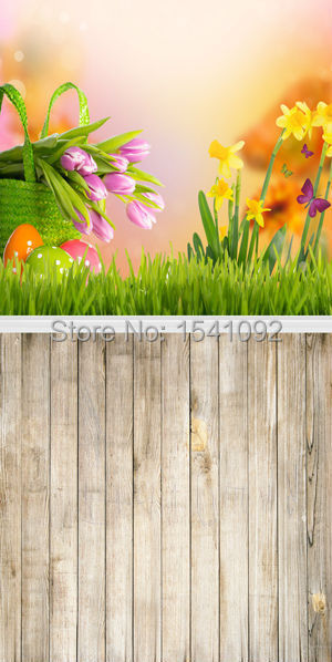 1.5X3M Customize vinyl photography backdrop newborn easter wood computer print  background for photo studio F091<br><br>Aliexpress