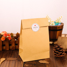 12pcs paper bag natural  kraft gift packaging birthday party candy holding