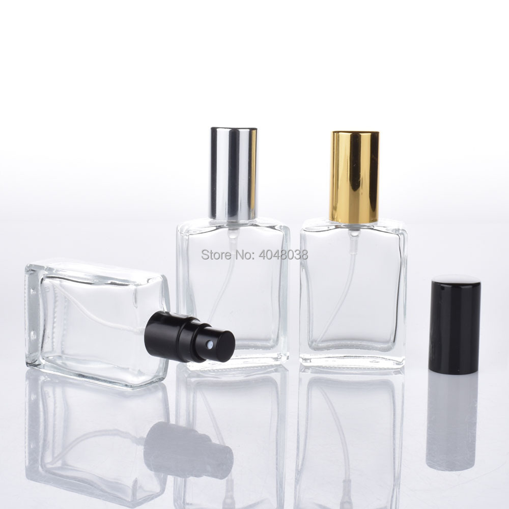 15 ML Cosmetic Compact Empty Perfume Bottle Transparent Pressed Spray Container Frosted Little Square Glass Filling Bottles (4)