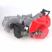 49CC 2 Stroke Motor with T8F 14t Gear Box Easy to Start Pocket Bike Mini Dirt Bike Engine DIY Engine