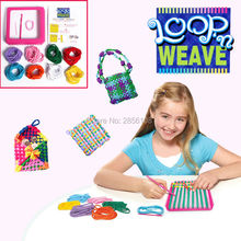 Craft Loop Weave Loom Toy Yarn Craft Set,Girls weaving dreams plush bag backpack toy, singer knitting machine educational toys