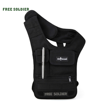 FREE SOLDIER Outdoor Sports Hiking Vest Bag MOLLE System Tablet IPAD Bag Men's Purse & Wallet CORDUAR Material YKK Zipper Bags(China)