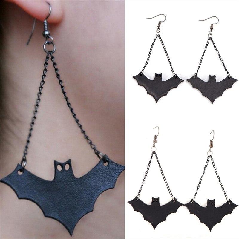 Pendientes De Halloween De Acrílico-murciélagos en vuelo libre de Reino Unido P/&p. CG1473