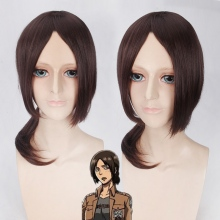 Hot Sale Attack on Titan Ymir Cosplay Wigs for Women Medium Long Brown Synthetic Hair Wig Christmas Gift Anime Party(China)