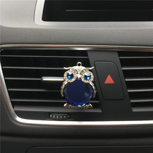 Exquisite metallic owl shapes Ladies car accessories perfume Air Conditioning decoration car air freshener Car styling perfume