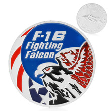 Coins F-16 Fighting Falcon Commemorative Coins Collection Physical Art Challenge Gift