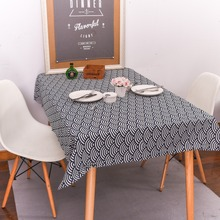 DAXIAOBU Cotton Linen Print Sea Wave Ripple Customed Tablecloth Cover Table Deco 1220d