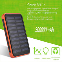 Super Thin Large Capacity Waterproof Portable Solar Power Bank Dual USB Solar Charger For Mobile Phones Compact Lightweight(China)