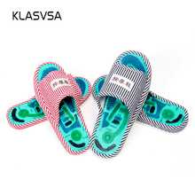 KLASVSA Reflexology Foot Acupoint Slipper Massage Promote Blood Circulation Relaxation Health Foot Care Shoes Pain Relief