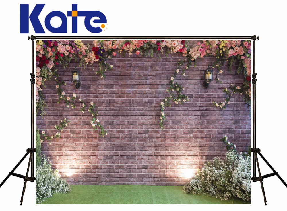 Kate Spring Photography Backdrops Flower Wall Background  Customize Backdrops Beautiful Wedding Backdrop<br>