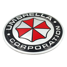 Brand New Umbrella Corporation 3D Aluminum Motorcycle Car Sticker car-cover 2 Type For ford focus bmw mazda opel toyota