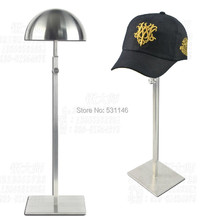 Matte Stainless Steel Hat&wig&cap display stand holer rack