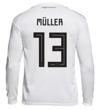 Germany Long sleeve jersey 2018 World Cup survetement Allemagne Kroos Ozil Muller Draxler Soccer Jersey Futball Trikot(China)
