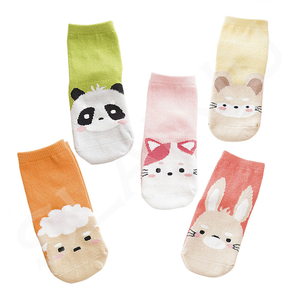5 Pair/lot Kawaii Pattern Cotton Kids Socks Baby Breathable Boys Girls Socks For Children Sock 5 Kinds Style Suitable For 1-12Y 13