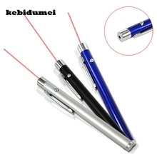 kebidumei 2017 Promotion 5mW 650nm Lamp 3 Color Red Laser Pointer Pen Beam Presentation Powerpoint Presenter 2 AAA Battery