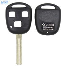 Remote 3 Button Key Shell + Short Blade 42mm For Lexus GX470 RX350 ES300 RX300 RX400h SC GS LS No Chip Uncut Blank Case Cover