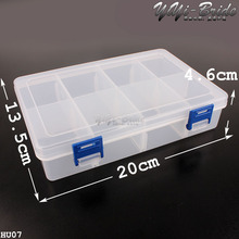 8 Slot HOT SALE Jewelry Packaging BOX Clear Best Organizer Storage Beads Box Plastic Jewelry Adjustable Tool Bins