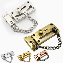 Stainless Steel Pickproof Lock Chain Bolt Safety Chain Hotel Security Chain Latch Decorative Hardware Door Lock
