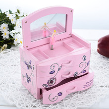 New Arrival Pink And Blue Jewel Case Designed Music Box Song to Alice Clockwork Music Box Wonderful  Gift To Your Kids