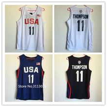 #11 Klay Thompson 2016 Dream Team USA basketball jersey Embroidery Stitched(China)
