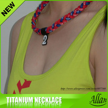 2016 custome cheap hotsale titanium sports necklace