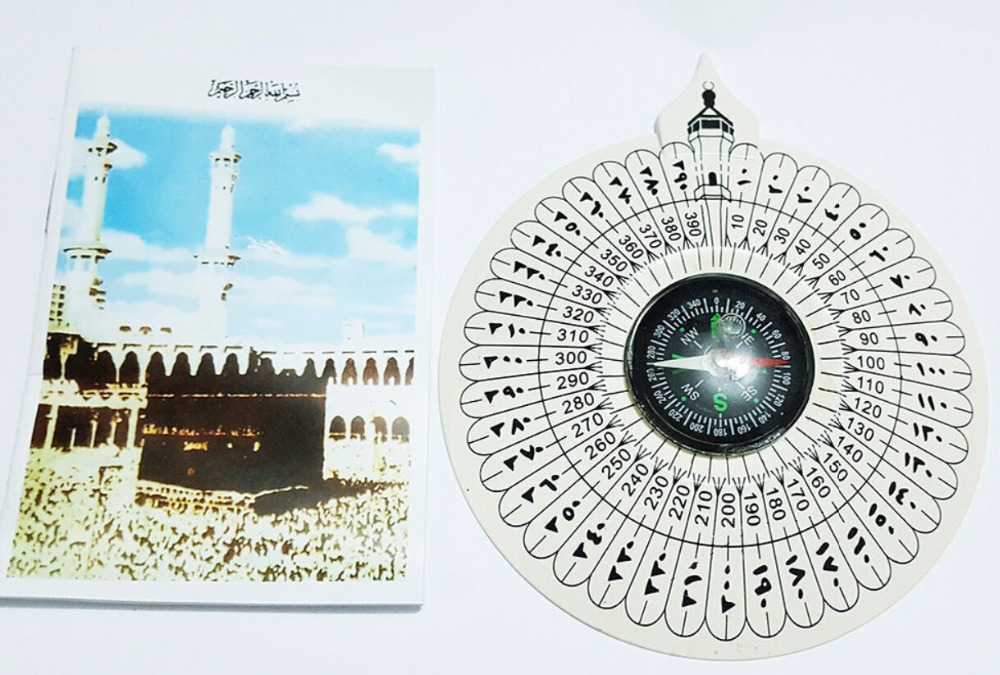 Whole Sale 500pcs/lot Direction Finder Compass Qibla Makkah Kaaba World Wide Booklet Muslim Prayer(China (Mainland))